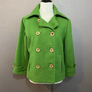 CAbi Style 659 Double Breasted Pea Coat Wool Blend